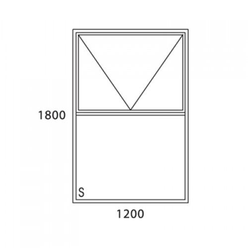 Aluminium window top hung cape contempory pt1218a size for 1800x1200 window