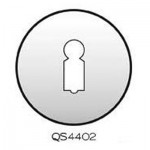 QS4402 German Keyhole Escutcheon Stainless Steel