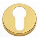 QS4403PVD Euro Keyhole Escutcheon PVD Titanium