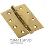 QS4415PVD 100x76x3mm Ball bearing hinge PVD brass