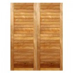 SD30/1612/OI - Double Horizontally Slatted Door 1612x2032mm