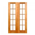 SD10/1210/OO - Double Small Pane Door 1210x2032mm