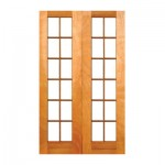 SD11/1210/OO - Double Small Pane Door 1210x2032mm