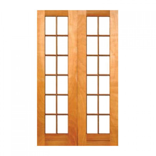 Wooden sd11 1210 oo cape culture double small pane door for Small double front doors