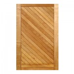 SD31P/1.2 - Diagonal Slatted Pivot Door 1200x2032mm