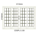 CDSPL3.120 - Small Pane Double Sliding Door 3112x2140mm