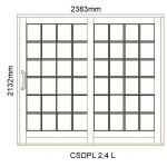 CSDPL2.4L - Small Pane Sliding Door 2.4L -2382x2140mm