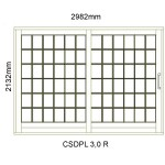 CSDPL3.0R - Small Pane Sliding Door 3.0R -2982x2140mm