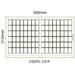 CSDPL3.6R - Small Pane Sliding Door 3.6R -3582x2140mm
