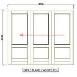 sliding folding doors glass top