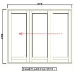 sliding folding doors full pane