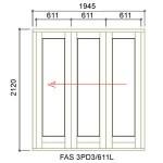 FAS3PD3/611L - Fold-A-Side Unit Left 1955x2120mm
