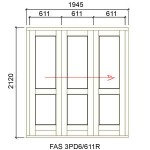 FAS3PD6/611R - Fold-A-Side Unit Right 1955x2120mm