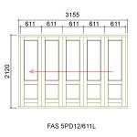 FAS5PD12/611L - Fold-A-Side Unit Left 3165x2120mm