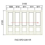 FAS5PD12/611R - Fold-A-Side Unit Right 3165x2120mm
