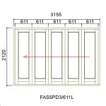 FAS5PD3/611L - Fold-A-Side Unit Left 3165x2120mm
