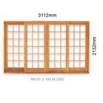 WDSP3.120 - Double Sliding Small Pane Door 3112x2125mm