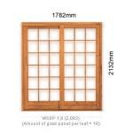 WSDP1.8L - Single Sliding Small Pane Door 1.8L - 1782x2125mm