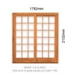 WSDP1.8R - Single Sliding Small Pane Door 1.8R - 1782x2125mm