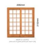 WSDP2.1L - Single Sliding Small Pane Door 2.1L - 2082x2125mm