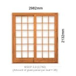 WSDP3.0L - Single Sliding Small Pane Door 3.0L - 2982x2125mm