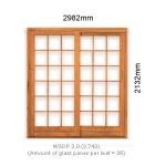 WSDP3.0R - Single Sliding Small Pane Door 3.0R - 2982x2125mm