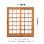 WSDP3.6R - Single Sliding Small Pane Door 3.6R - 3582x2125mm