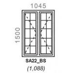SA22/BS - Full Pane Window B/Bar 1044x1500mm
