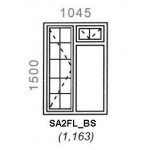 SA2FL/BS - Full Pane Window B/Bar 1044x1500mm