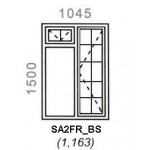 SA2FR/BS - Full Pane Window B/Bar 1044x1500mm