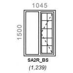 SA2R/BS - Full Pane Window B/Bar 1044x1500mm