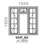 SA3F/BS - Full Pane Window B/Bar 1544x1500mm