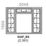 SA4F/BS - Full Pane Window B/Bar 2044x1500mm