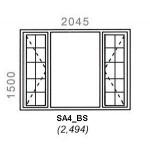 SA4/BS - Full Pane Window B/Bar 2044x1500mm