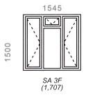 SA3F - Full Pane Window 1544x1500mm