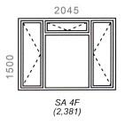 SA4F - Full Pane Window 2044x1500mm