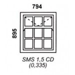SMS1.5CD - Box Mock Sash Window Cape Dutch 794x895mm