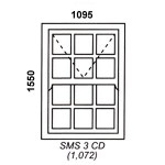 SMS3CD - Box Mock Sash Window Cape Dutch 1095x1550mm