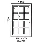 SMS4CD - Box Mock Sash Window Cape Dutch 1095x1750mm