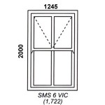 SMS6VIC - Box Mock Sash Window Victorian  1245x2000mm