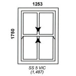 SS5VIC - Victorian Sliding Sash Window 1252x1750mm