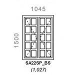 SA22SP/BS - Small Pane Window B/Bar 1044x1500mm
