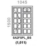 SA2FSPL/BS - Small Pane Window B/Bar 1044x1500mm