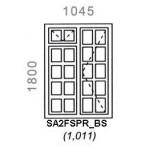 SA2FSPR/BS - Small Pane Window B/Bar 1044x1500mm