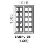 SA2SPL/BS - Small Pane Window B/Bar 1044x1500mm