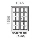 SA2SPR/BS - Small Pane Window B/Bar 1044x1500mm