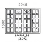 SA4FSP/BS - Small Pane Window B/Bar 2044x1500mm