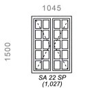 SA22SP - Small Pane Window 1044x1500mm