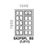SA2FSPL - Small Pane Window 1044x1500mm