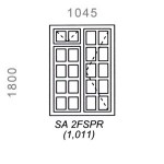 SA2FSPR - Small Pane Window 1044x1500mm